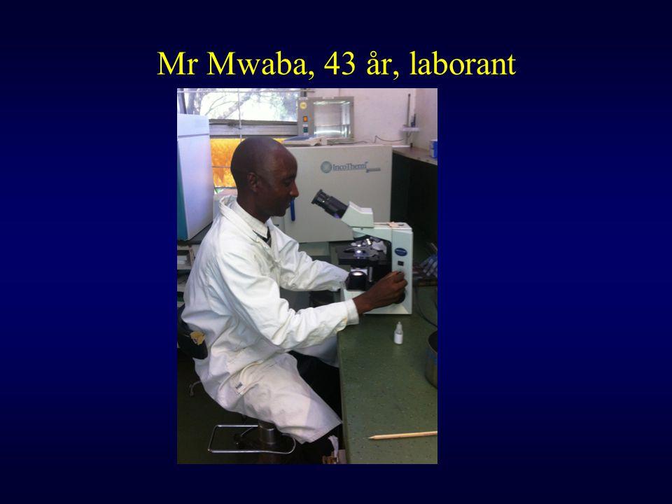 Mr Mwaba, 43 år, laborant