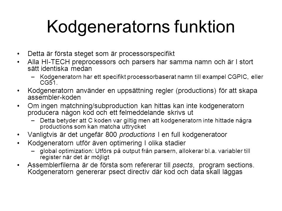 Kodgeneratorns funktion