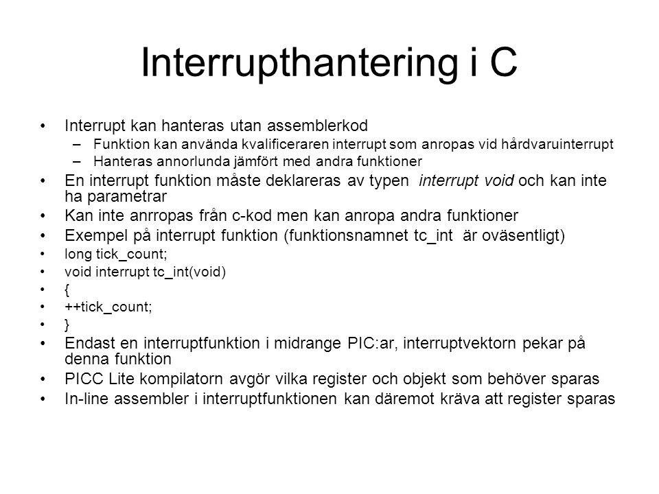 Interrupthantering i C