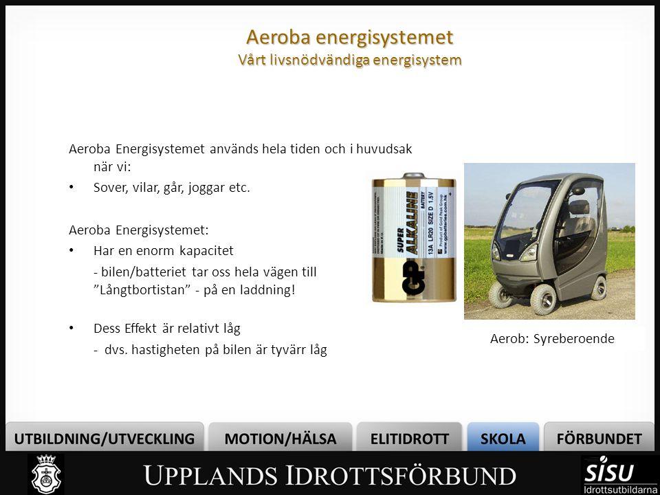 Aeroba energisystemet Vårt livsnödvändiga energisystem