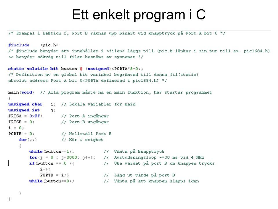 Ett enkelt program i C