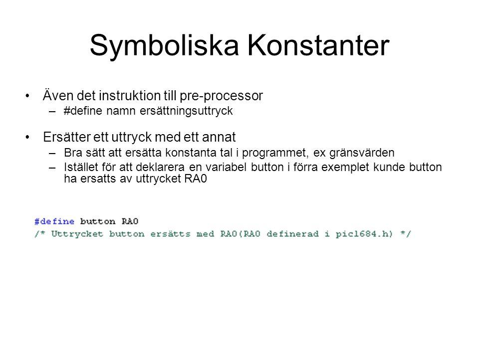 Symboliska Konstanter