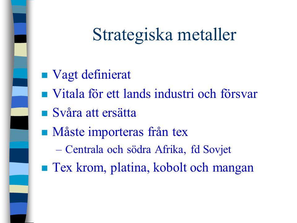 Strategiska metaller Vagt definierat