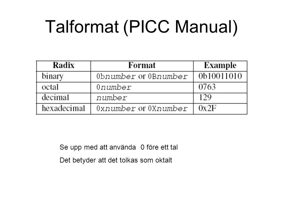 Talformat (PICC Manual)