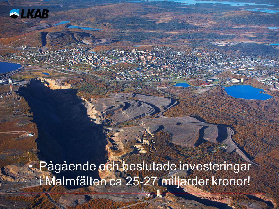 Ytterligare 25-27 miljarder investeras i Malmfälten