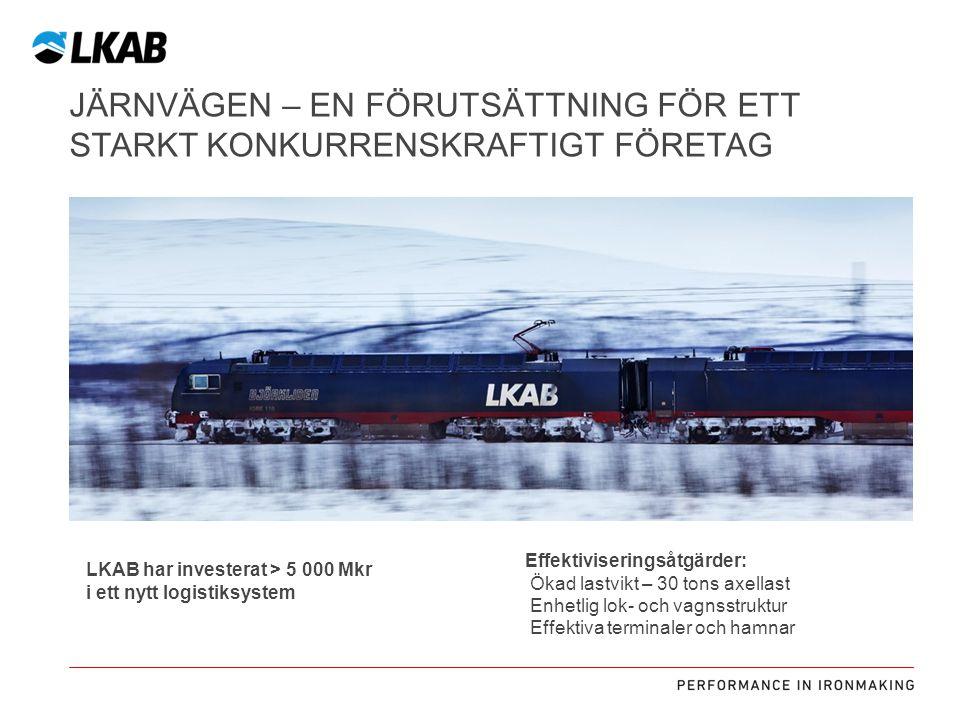Järnvägen – en förutsättning för ett starkt konkurrenskraftigt företag