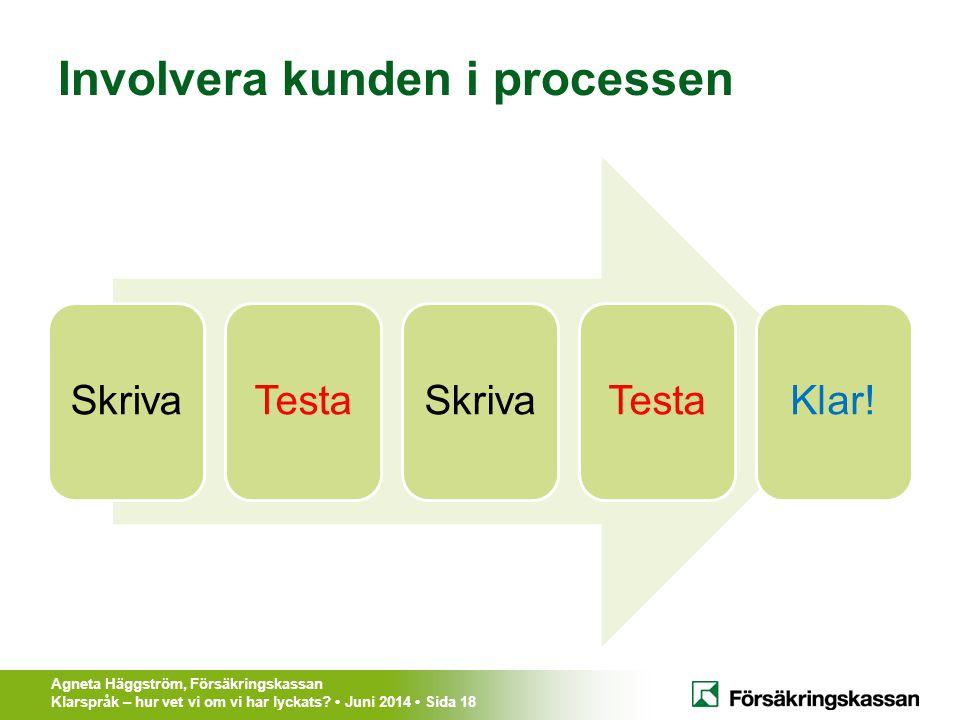 Involvera kunden i processen