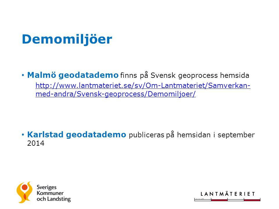 Demomiljöer Malmö geodatademo finns på Svensk geoprocess hemsida