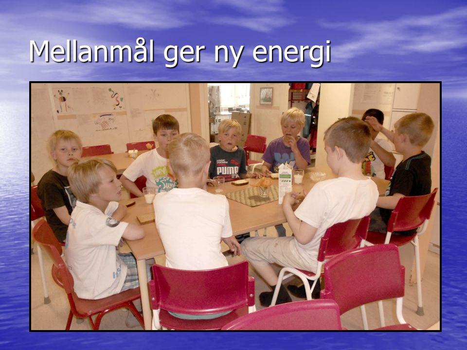 Mellanmål ger ny energi