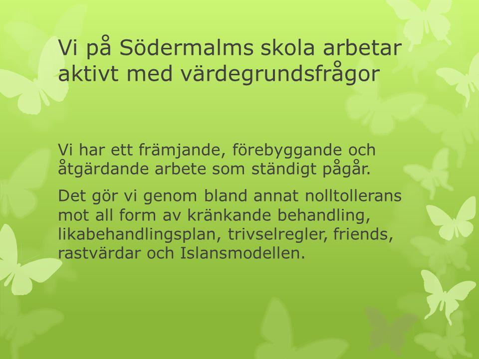 Vi på Södermalms skola arbetar aktivt med värdegrundsfrågor