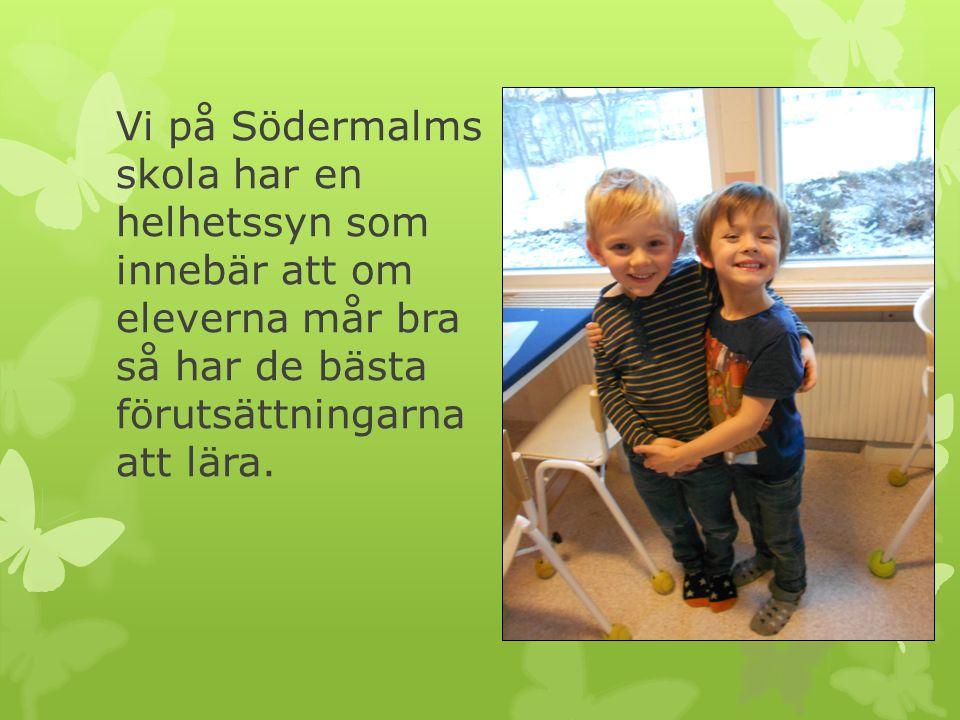 Vi på Södermalms skola har en helhetssyn som innebär att om eleverna mår bra så har de bästa förutsättningarna att lära.