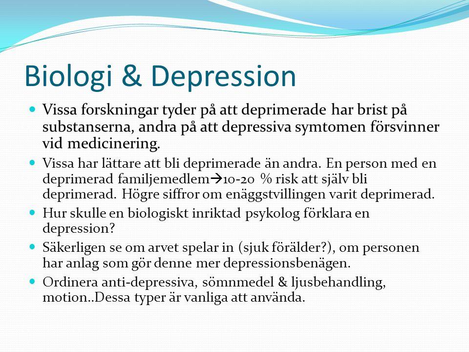 Biologi & Depression