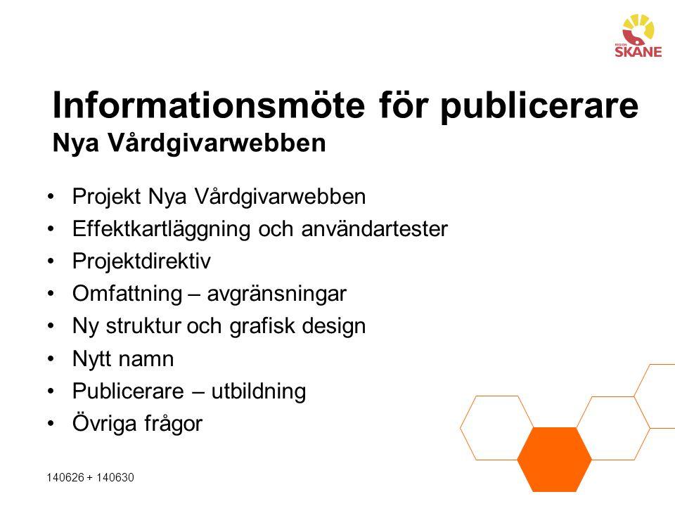 Informationsmöte för publicerare Nya Vårdgivarwebben