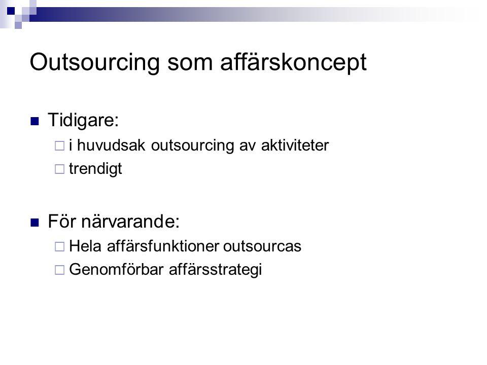 Outsourcing som affärskoncept