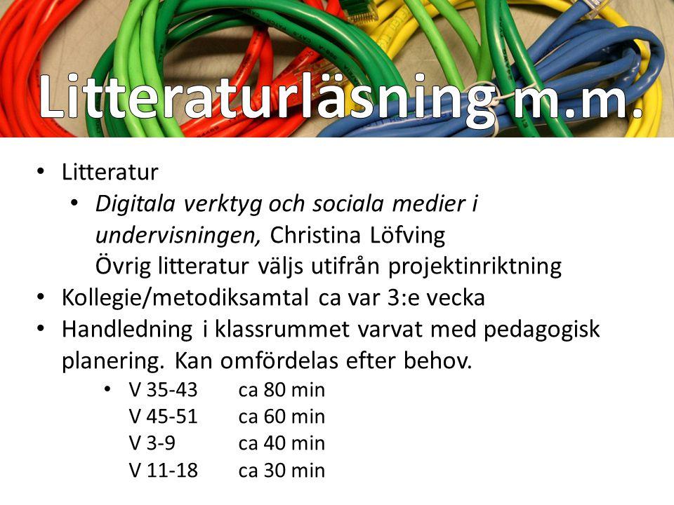 Litteraturläsning m.m. Litteratur