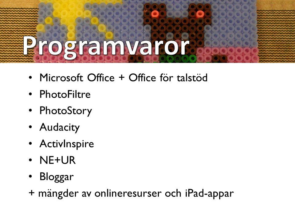 Programvaror Microsoft Office + Office för talstöd PhotoFiltre
