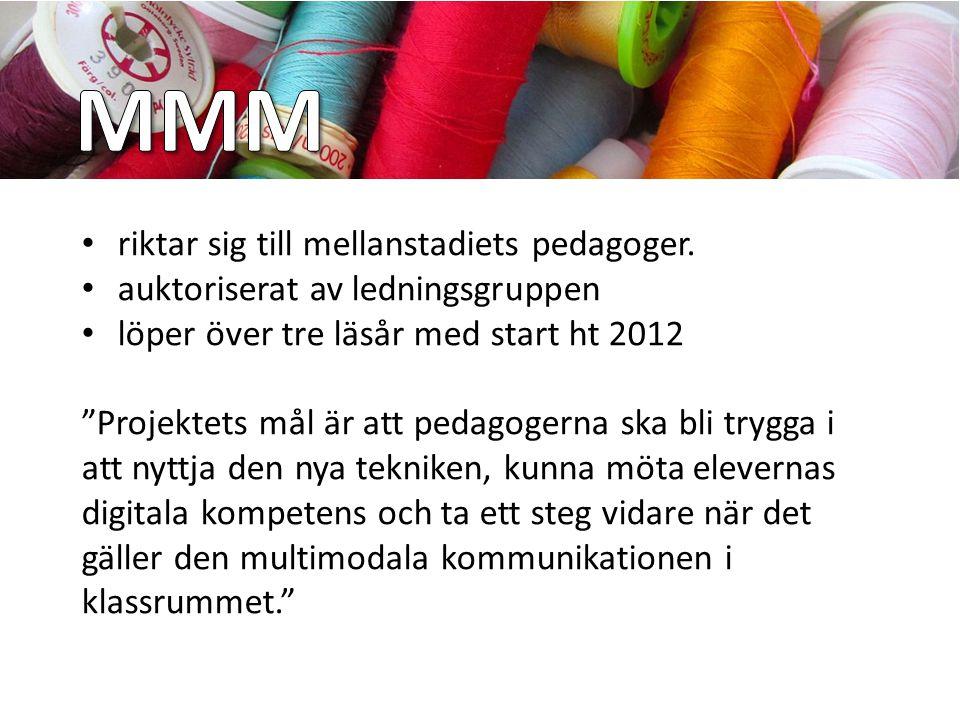 MMM riktar sig till mellanstadiets pedagoger.