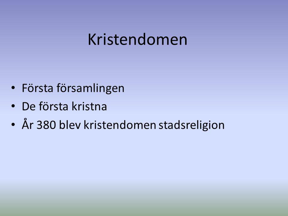 Kristendomen Första församlingen De första kristna