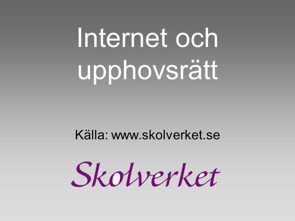 Internet och upphovsrätt