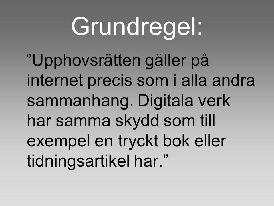 Grundregel: