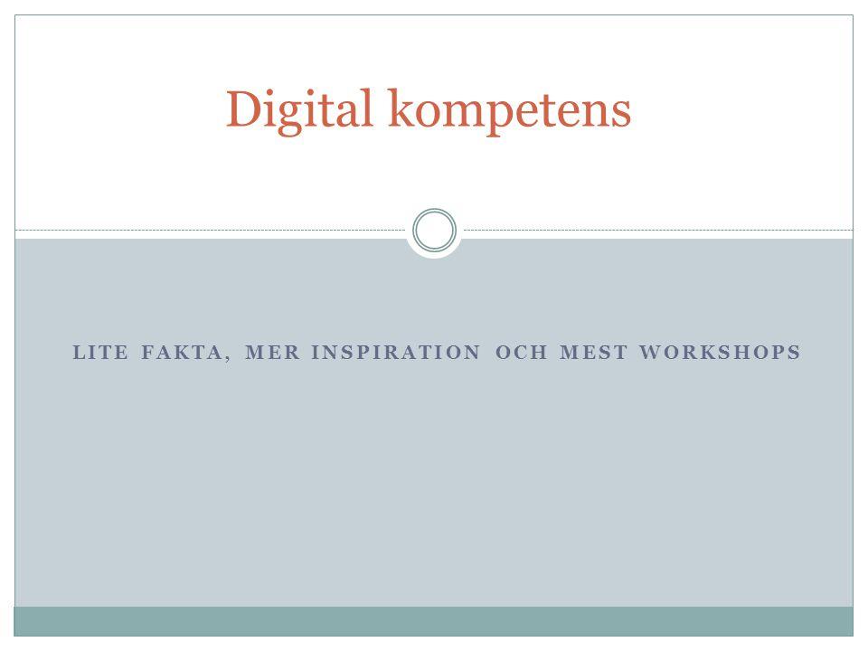Lite Fakta, mer Inspiration och mest workshops