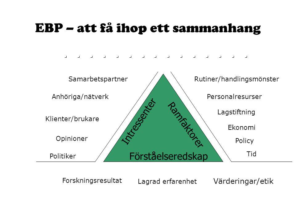 EBP – att få ihop ett sammanhang