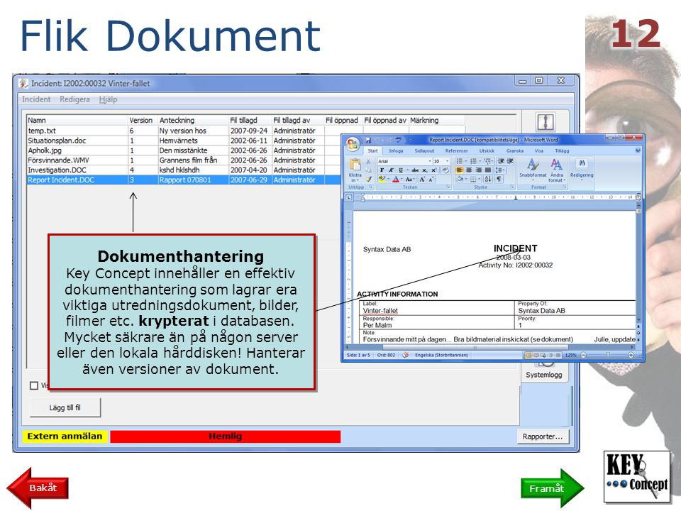 Flik Dokument 12 Dokumenthantering