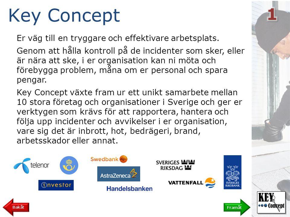 Key Concept 1 Er väg till en tryggare och effektivare arbetsplats.