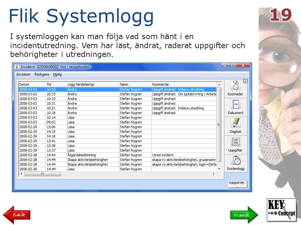 Flik Systemlogg 19.