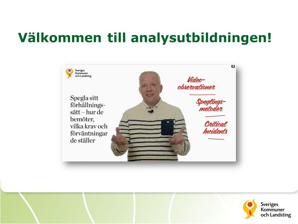 Välkommen till analysutbildningen!