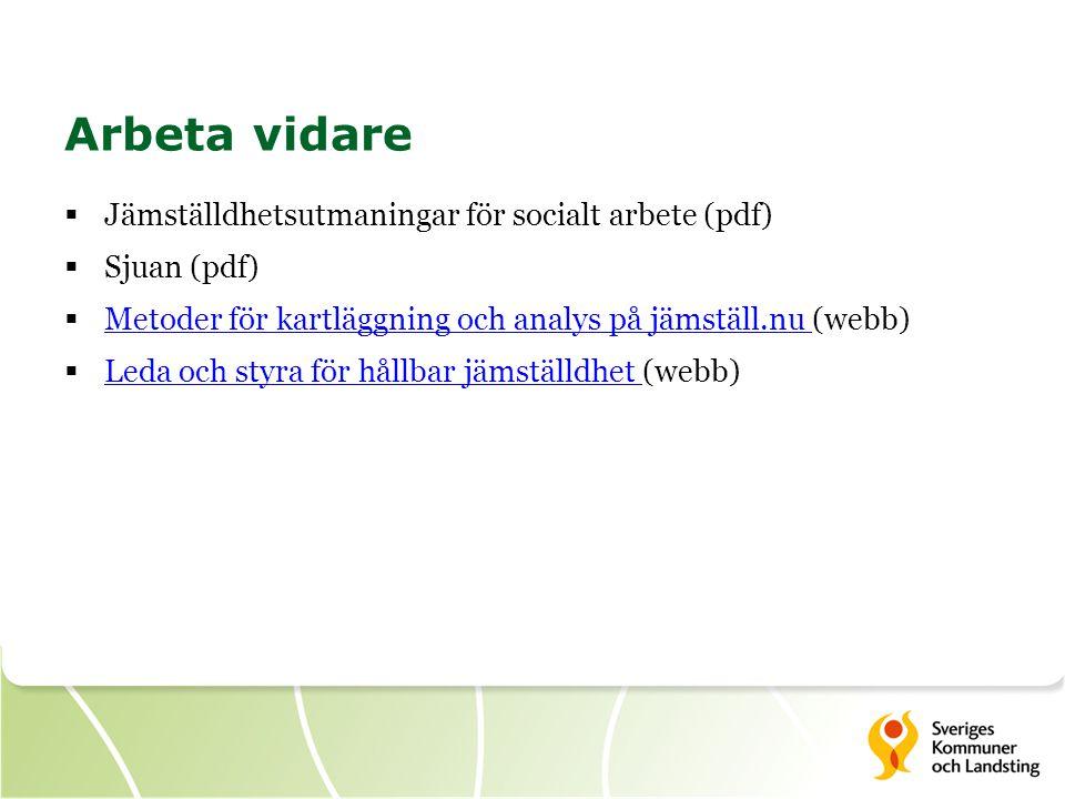 Arbeta vidare Jämställdhetsutmaningar för socialt arbete (pdf)