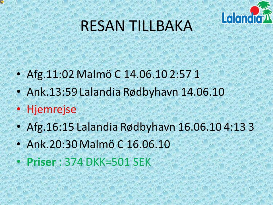 RESAN TILLBAKA Afg.11:02 Malmö C 14.06.10 2:57 1