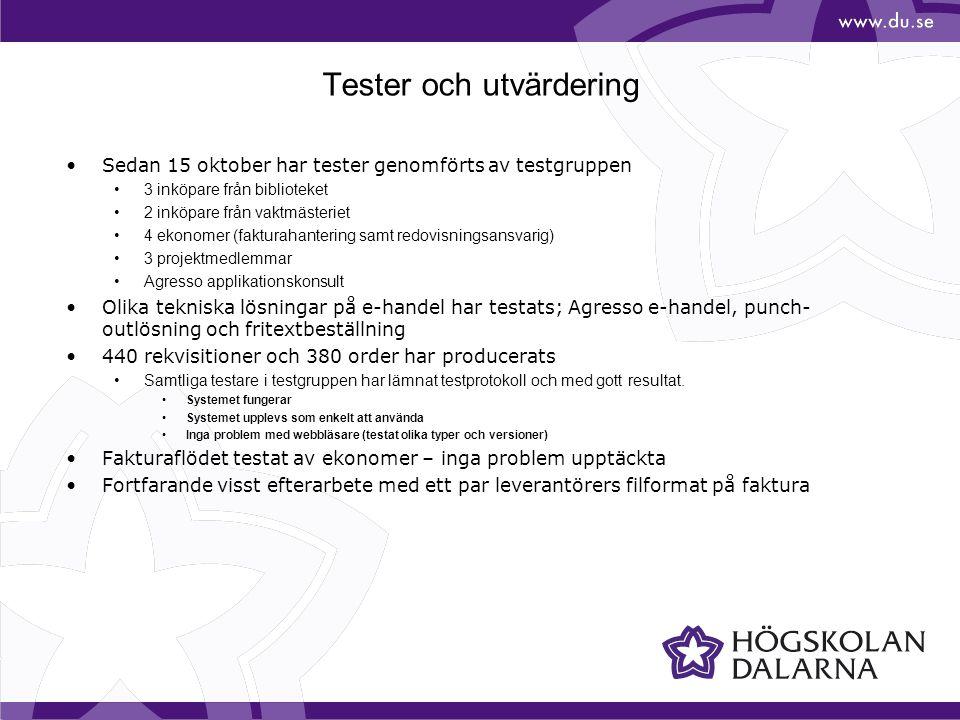 Tester och utvärdering
