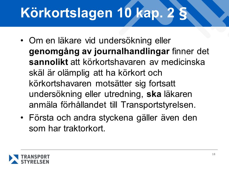 Körkortslagen 10 kap. 2 §
