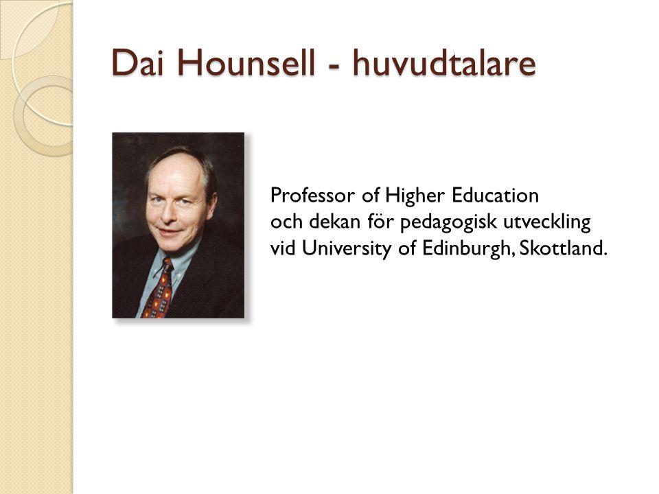 Dai Hounsell - huvudtalare