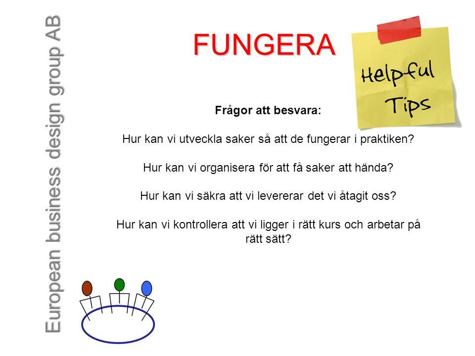 FUNGERA Frågor att besvara:
