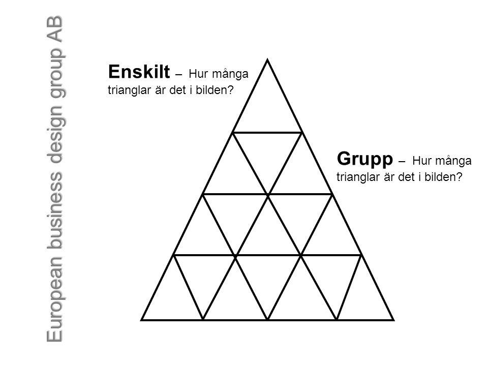 Enskilt – Hur många Grupp – Hur många trianglar är det i bilden