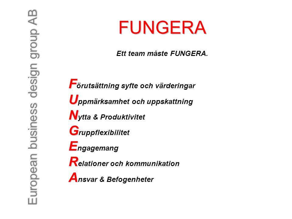 FUNGERA Förutsättning syfte och värderingar