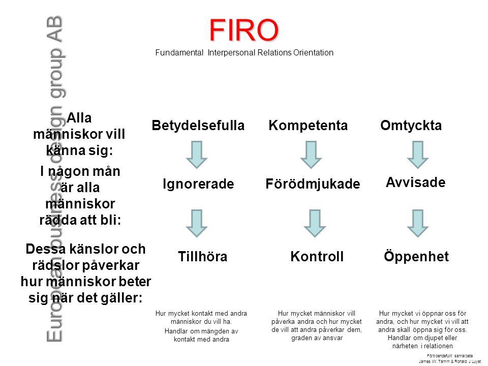 FIRO Fundamental Interpersonal Relations Orientation