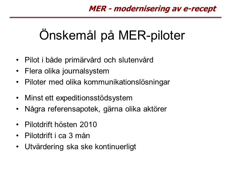 Önskemål på MER-piloter