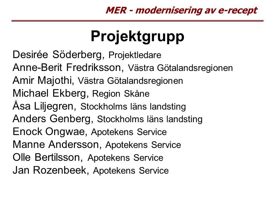Projektgrupp Desirée Söderberg, Projektledare