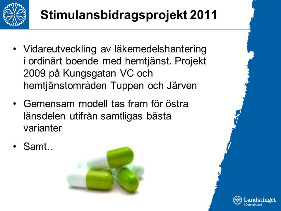 Stimulansbidragsprojekt 2011
