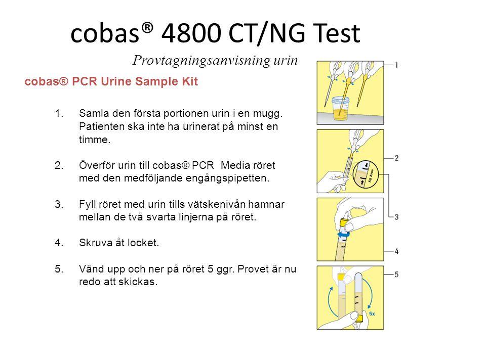 cobas® 4800 CT/NG Test Provtagningsanvisning urin