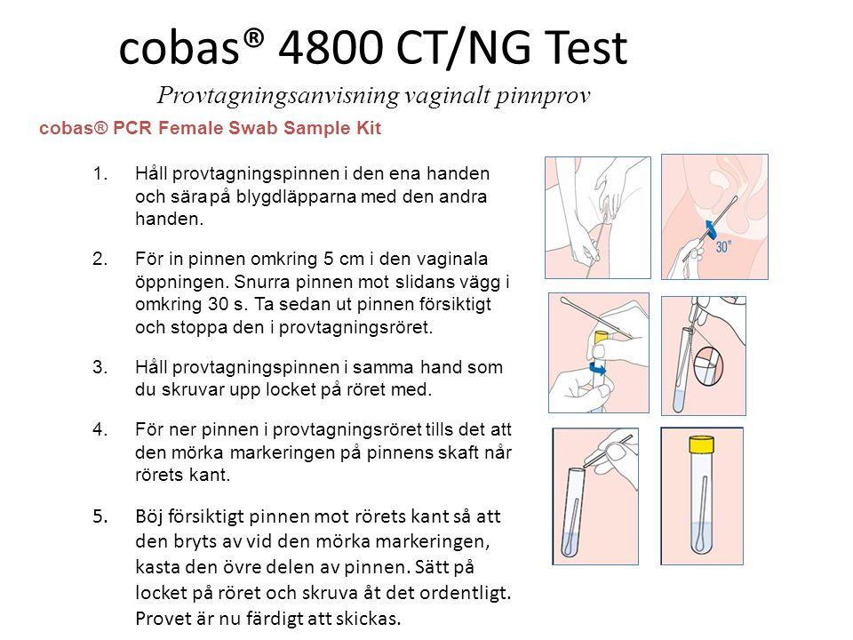 cobas® 4800 CT/NG Test Provtagningsanvisning vaginalt pinnprov