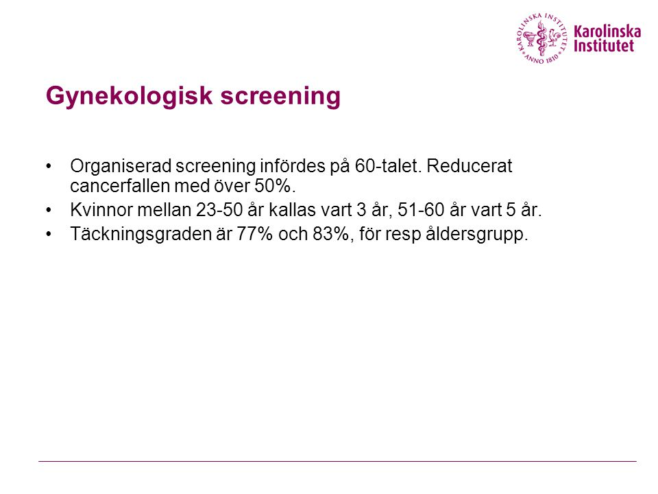 Gynekologisk screening