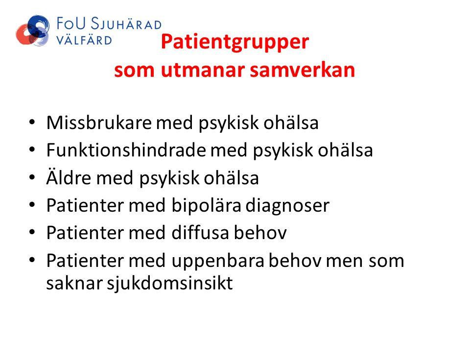 Patientgrupper som utmanar samverkan