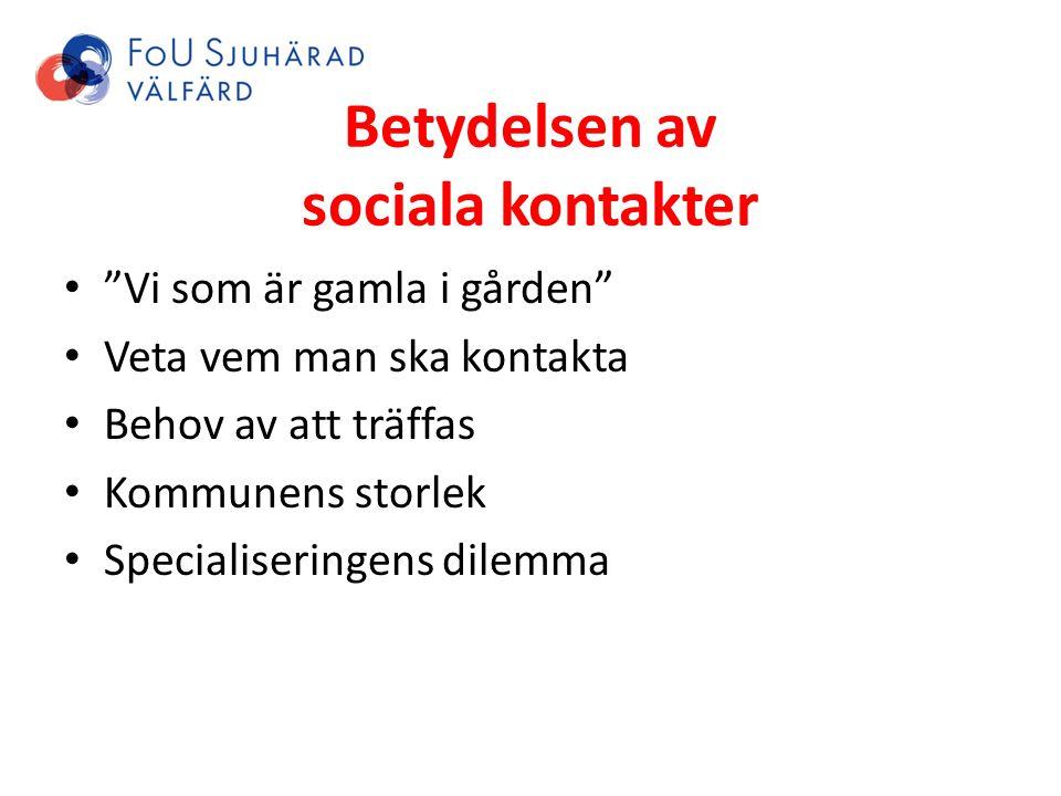 Betydelsen av sociala kontakter