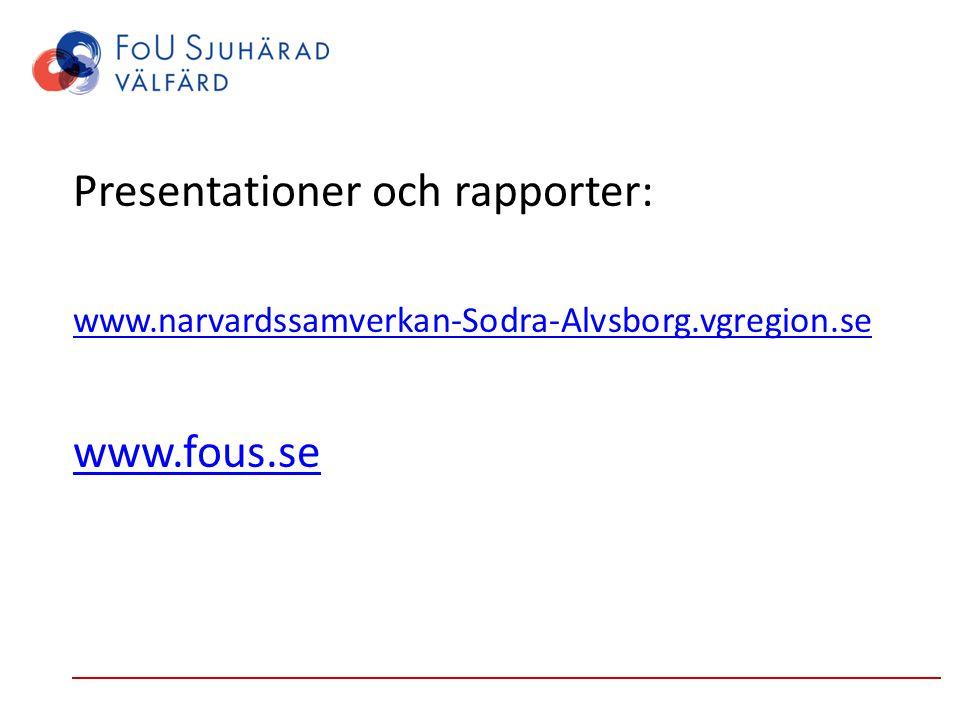 Presentationer och rapporter: