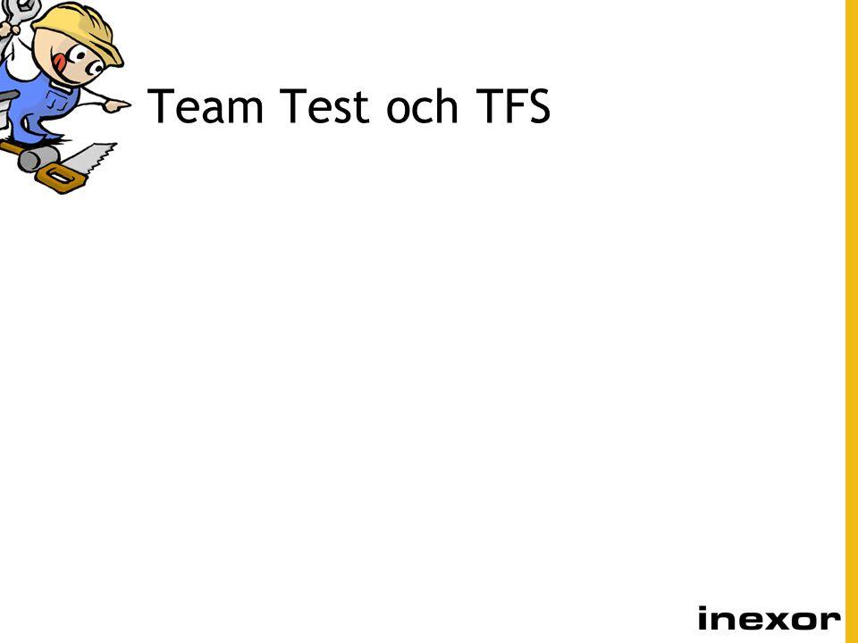 Team Test och TFS