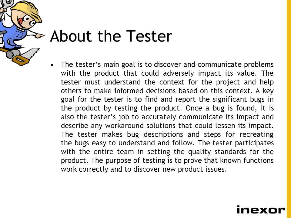 About the Tester